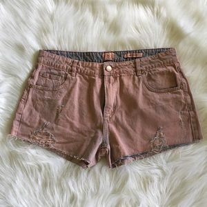 91 Cotton On Mid Saturday Pink Wash Jean Shorts